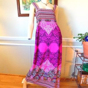 Studio One Dresses - Studio One Boho Print Maxi Dress